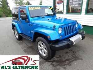 2014 Jeep Wrangler Sahara w/ NAV only $227 bi-weekly all in!