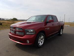 2013 Ram 1500 CREW CAB|SPORT|HEMI V8|HTD LTHR|NAV|PWR MIRRORS|SI