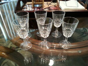 Vintage Crystal Liqueur Glasses - Mint Condition