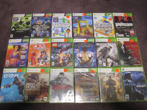 XBox 360 AAA Games - New in sealed boxes (some store-opened )