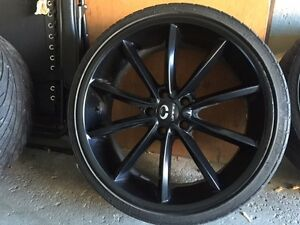 20 inch Lorenzos black 5x114.3 - perfect for summer