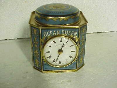 Vintage John Moore Sons Clerkenwell London Clock in Coffee Can parts repair C
