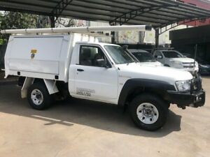 2016 Nissan Patrol MY14 DX (4x4) White 5 Speed Manual Leaf Cab Chassis Bankstown Bankstown Area Preview