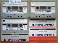 JL CHEAPEST ONLINE 3x RARE TDK D 120 D120 CASSETTE TAPES 1979-81 W/ CARDS CASES LABELS ALL GC