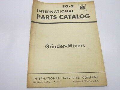 International Grinder-mixers Parts Catalog