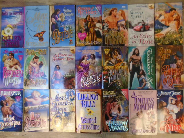 HUGE lot (58) Time Travel FUTURISTIC TimeSwept Romance Paperbacks - An Echo In T