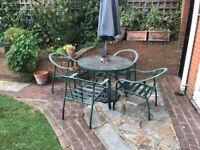 Four Piece Garden Furniture Set - Umbrella Included