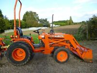 KUBOTA B1750 COMPACT TRACTOR WITH LOADER