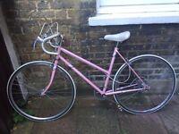 Pink vintage Raleigh ladies road racing bike for sale