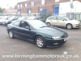 1997 (R Reg) Peugeot 406 COUPE 2.0 AUTOMATIC 2DR Coupe GREEN + LOW MILES