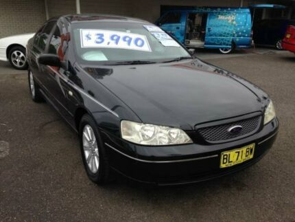 2002 Ford Falcon BA Futura Black 4 Speed Auto Seq Sportshift Sedan Broadmeadow Newcastle Area Preview