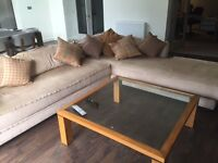 L Shaped Large Sofa available for immediate removal