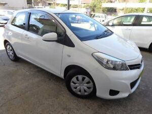 2012 Toyota Yaris NCP130R YR White 4 Speed Automatic Hatchback Sylvania Sutherland Area Preview