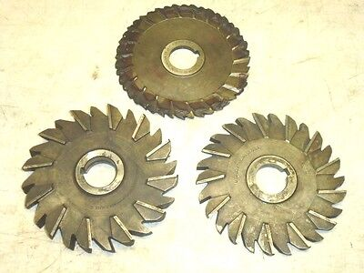 Lot Of 3 Assorted Milling Cutters 6 Diameter National Utd