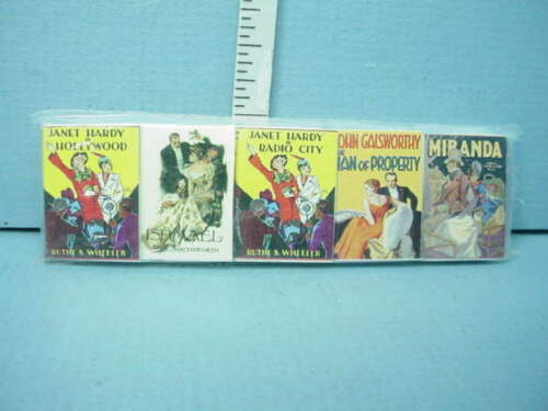 Miniature - Victorian Novels Books #2 (5 Book Set) #199 Novel Idea 1/12th
