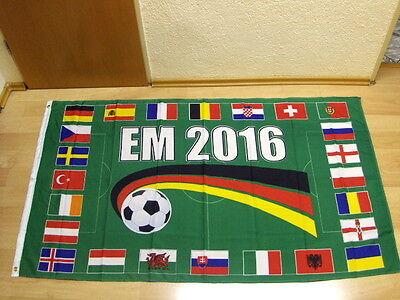Fahnen Flagge EM 2016  Alle 16 Teilnehmerländer zur Erinnerung - 90 x 150 cm
