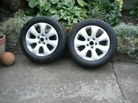 4 alloy wheels (complete with tyres)