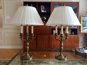 2 brass finish table lamps West Island Greater Montréal image 1