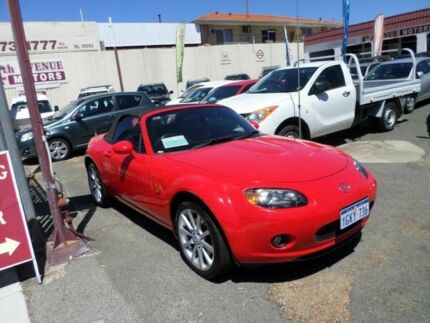 2006 Mazda MX-5 NC30F1 MY07 Touring Red 6 Speed Manual Softtop Mount Lawley Stirling Area Preview