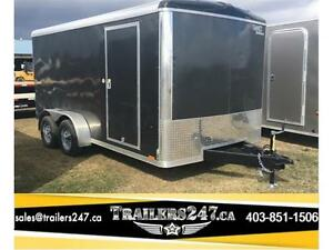 -*New 7ft x 14ft Screwless Aluminum Vision Cargo Trailer*-*-