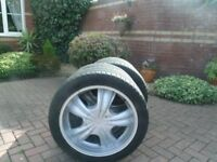 20 INCH VOLKSWAGON T5 ALLOY WHEELS AND GREAT TYRES