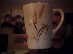 Ceramic Wheat Themed Water Pitcher
