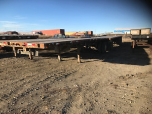 2001 Knight Super B Lead and pup deck trailer
