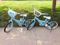 """Two(2) """"Daisy"""" blue girl's bikes … LIGHTLY USED!"""
