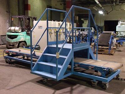 Hytrol Belt Conveyor 14.5 X 2 With Catwalk On Casters