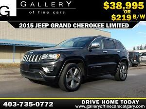 2015 Jeep Grand Cherokee Limited 4x4 $219 bi-weekly APPLY NOW