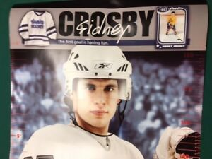 "2007 SIDNEY CROSBY 78"" Growth Chart Poster Pittsburgh Penguins"