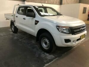 2015 Ford Ranger PX XL DOUBLE CAB White Manual Dual Cab Chassis Gateshead Lake Macquarie Area Preview