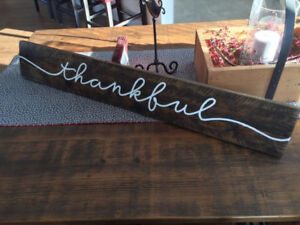 """Thankful"" Sign made of Reclaimed Wood"
