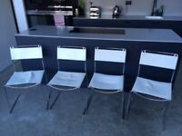 1960's chrome and leather dining chairs