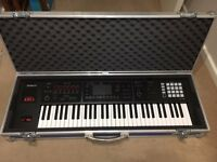 Roland FA06 Synthesizer Workstation In Excellent Condition Complete With Hard Flight Case