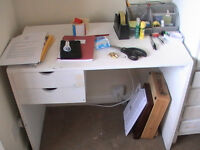 White 2 drawer desk