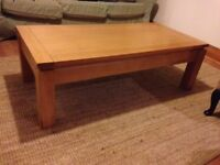 Solid Multiyork oak coffee table in great condition