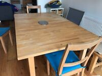 Wooden kitchen - Dining Table with 4 wooden chairs