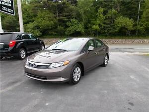2012 HONDA CIVIC LX...LOADED!! FINANCING AVAILABLE!! APPLY NOW!!