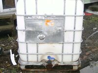 caged storage tank