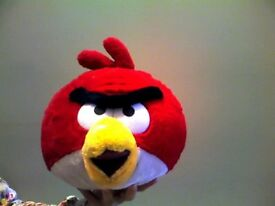 Angry birds soft toy RED