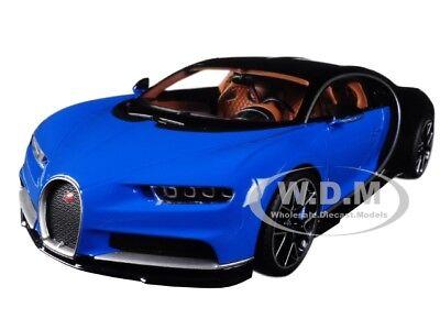 Bugatti Chiron Blue   Dark Blue Metallic 1 18 Diecast Model By Kyosho C09548bbk
