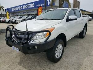 2011 Mazda BT-50 XTR (4x4) White 6 Speed Manual Dual Cab Utility Wangara Wanneroo Area Preview