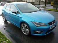 SEAT Leon 2.0TDI 16V 184BHP FR TECH PACK CR **One Owner / Full Service History** (blue) 2014