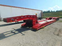 1989 Remfab RD80-55 41 Ft Tri Axle Detachable Lowboy Trailer