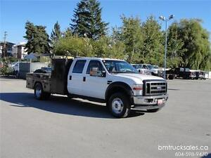 2009 FORD F-550 SUPER DUTY CREW CAB FLAT DECK 4X4