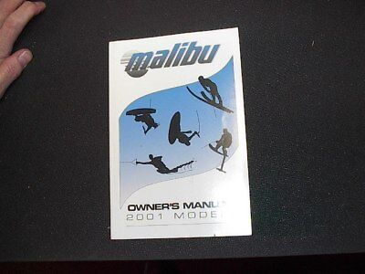 Malibu Ski Boats 2001 Models Owners Manual