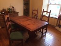 Dining room Table ,Chairs and Sideboard Mexican Pine