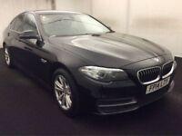 BMW 5 SERIES 2.0 520D SE 4d AUTO 181 BHP + 1 OWNER + SERVICE H (black) 2014