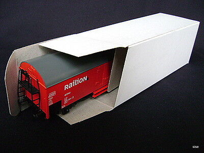 10 Stück H0 neutrale Leerkarton für Güterwagen Neu Leerschachtel